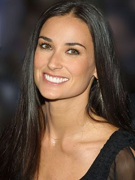 demi moore with hair